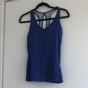 Super cute Lucy royal blue v neck workout top